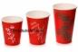 Стакан однослойный для горячих и холодных напитков в ассортименте (Красный)